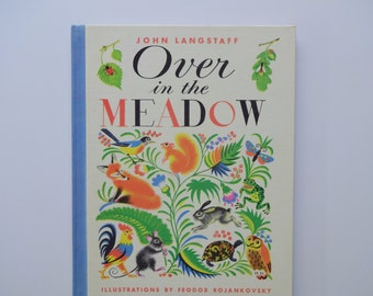 Vintage Over in the Meadow Hardback Book 1957