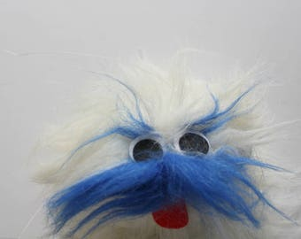 Vintage Great American Fun White Monster Marionette Puppet Stuffed Animal 1990