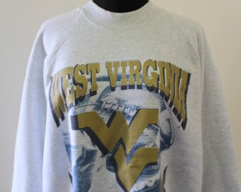 Vintage West Virginia Mountaineers Football Sweatshirt 1993