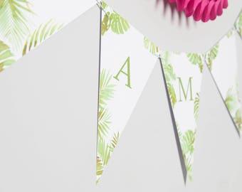 Bespoke Botanical Bunting // Party Decoration // Wedding Party Bunting // Card Bunting