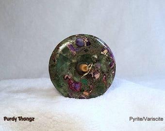 Drop Spindle - DS-367 Pyrite/Variscite