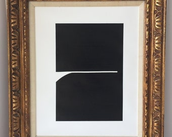 Black and White Geometric Sumi Ink Painting