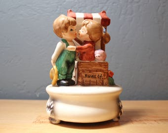 Musical Figurine - Kisses 5 Cents - Music Box