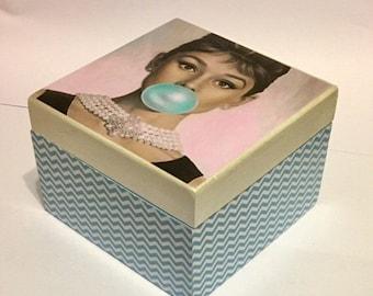 Audrey Hepburn box keepsake box jewelry box