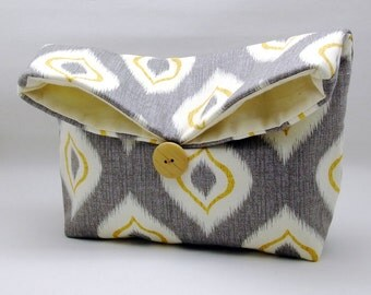 Foldover clutch, Fold over bag, clutch purse, evening clutch, wedding purse, bridesmaid gifts - Candle light (Ref. FC31 )