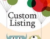 Custom listing for Laura Naish