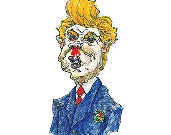 Smell A Rat? Original drawing of Donald Trump by Dan Blakeslee