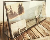Vintage Metal and Glass Architectural Display Frame