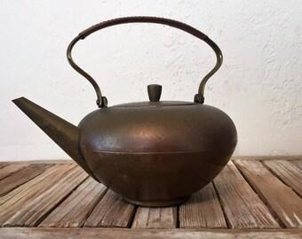 Vintage aged Copper Teapot