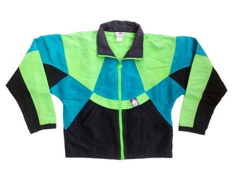 Rad 90s Neon New Balance Fitness System Windbreaker - M