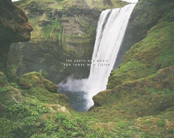 Skogafoss Iceland, Waterfall Photography, Waterfall Art, Nature Photography, Nature Art, Nature Prints, Nature Decor, Nature Photo