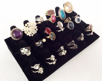 Junk lot rings lot of over 32 pieces for crafts assemblage some to wear