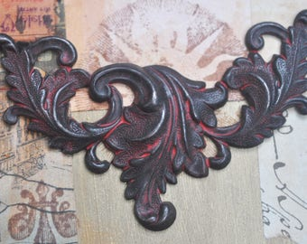 TWO Neo Victorian Necklace bases, Wicked Sassy Patina