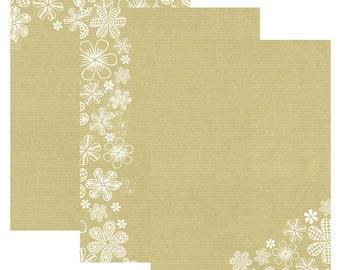 Kraft flowers | Stationery printable | ankepanke