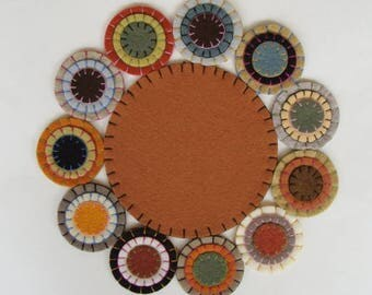 Candle Mat Wool Felt Blend, Handmade, Finished Ready To Ship