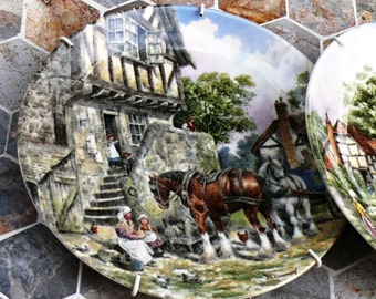 Vintage Plates Traditional English Wall Hanging - John L. Chapman Traditional Scenes of Rural Life in England - Limited Eddition Great Gift