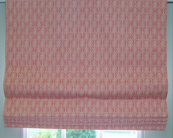 Custom Roman Shade Standard (48 x 48)- Flat with Privacy Lining and Cord Lock Lift System Send 1-3/4 yards of Your Own Fabric