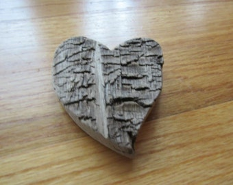 Driftwood Heart Shaped Cut Out Handcrafted Lake Michigan Driftwood Art Supplies One of a Kind