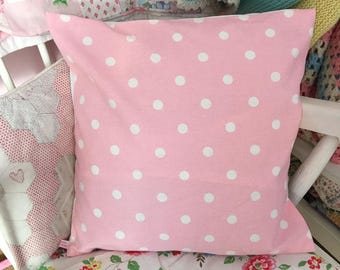 Cath kidston pink spot  cotton duck  fabric cushion/pillow cover decorative cushion cover in cath kidston  fabric