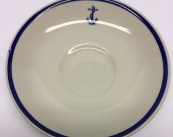 US Navy saucer Sterling China Anchor