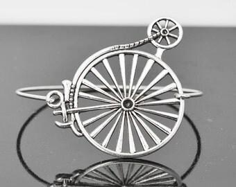 Bicycle Bangle, Sterling Silver Bangle, Bicycle Bracelet, Stackable Bangle, Charm Bangle, Bridesmaid Bangle, Bridesmaid jewelry, Bridal