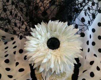 Halloween Teardrop Hat (Spiders & Skulls)