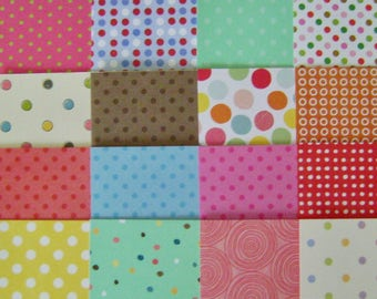 Destash - Set of 37 (6x6) Polka DOTS Polka DOTS Patterned Cardstock