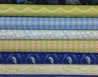 Lagoon Into The Deep Bundle from Michael Miller ( 8 Fabrics Total)