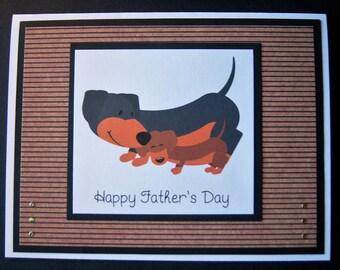 Dachshund Father's Day Card