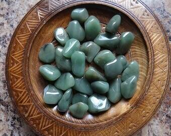 GREEN CHALCEDONY Stone Gemstone Crystal Tumbled 4 oz Wiccan Pagan Metaphysical Reiki Chakra Supply