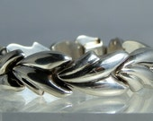 Vintage Milor Italy Sterling Silver Bracelet 7.5 inch Backed Silver Quality Italian Jewelry Locking Safety Clasp DanPickedMinerals
