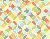 SHOP CLOSING SALE Fat Quarter fabric for quilt or craft Michael Miller Tile Pile Multi Fat Quarter
