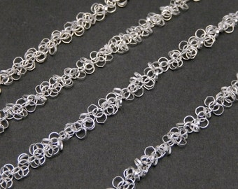 10% off Holiday SALE Sterling Silver Chain- Sterling Silver Dangle Chain links -- 1 FOOT