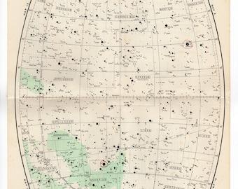 1950 Vintage Star maps 11 & 12 Northern LIBRA VIRGO SAGITTARIUS Scorpio pisces Astronomy zodiac stars chart maps constellation