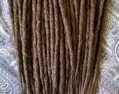 Medium brown dreadlocks crochet synthetic dreadlock extensions - natural look, double ended, DE, long, 40 pieces