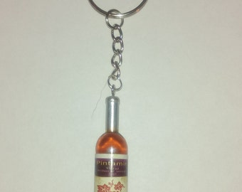 Wine Bottle Keychain with Personalization Options