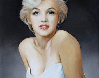 Marilyn : Oil figure painting, the very star
