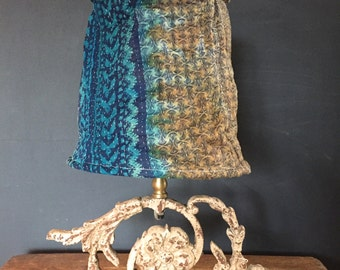 Hand stitched / made lamp shade