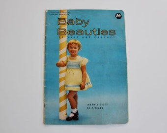 Vintage 1950's American Thread Co. Star Baby Book No. 138 Baby Beauties to Knit and Crochet Infants to 2 Years #95