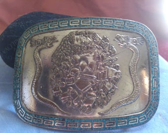 Dragonsnake Belt Buckle from Mexico