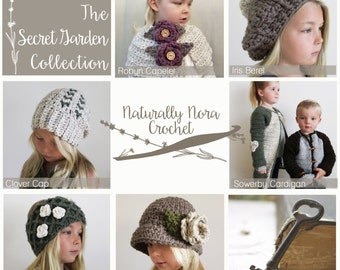 Instant Download 6 Pattern e-Book-The Secret Garden Collection