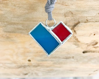 Unique Stained Glass Pendant Necklace