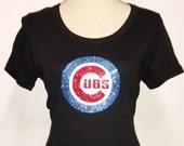 Womens Cub Shirt, Womens T-Shirt, Womens Cub Tee-Shirt, Cubs T-shirt, Cubs Tee, Chicago Cubs