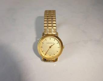 Vintage Bulova Caravelle Watch Women's Wrist Watch Stretch Band