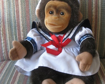 Vintage Hosung Sailor Monkey Squeaking Puppet