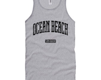 Ocean Beach San Diego Tank Top - Unisex XS S M L XL 2x Men and Women - Gift for Men, Her, Ocean Beach Tank Top, SD Top, California, 619