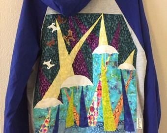 SALE Phish hoodie, Petrichor, large patchwork hoodie