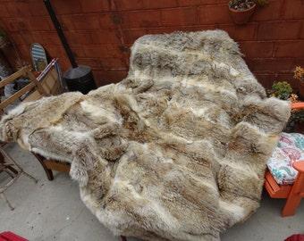 Coyote Fur Blanket, Fur Blanket, Comforter
