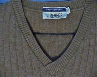 Vtg tan sweater vest size XL