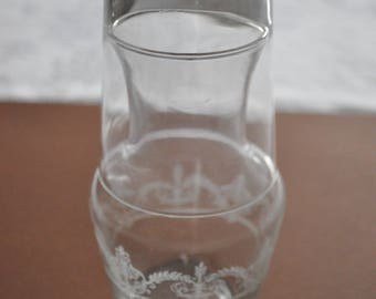 Vintage Small Water Carafe and Glass